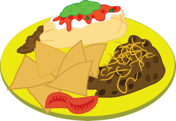 Covered clipart food platter Dinner Mexican Clipart Plate Plate