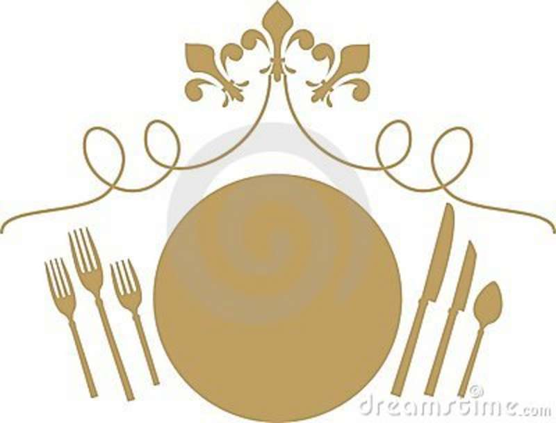 Date clipart fancy restaurant Setting Dinner Setting China Clipart