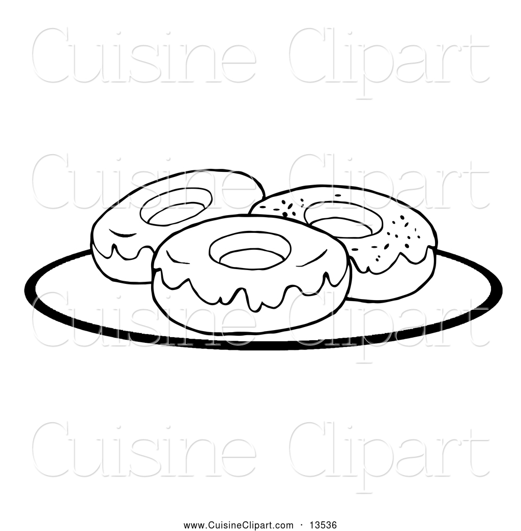 White clipart donut Black Clipart of and and