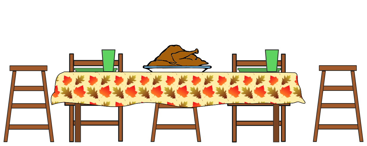 Thanksgiving clipart thanksgiving dinner Table Feast cliparts Feast Clipart