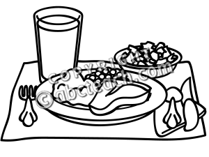Breakfast clipart meal And Food Black Clipart clip