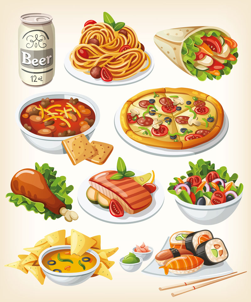 Cereal clipart breakfast plate :: Items Vector images Various