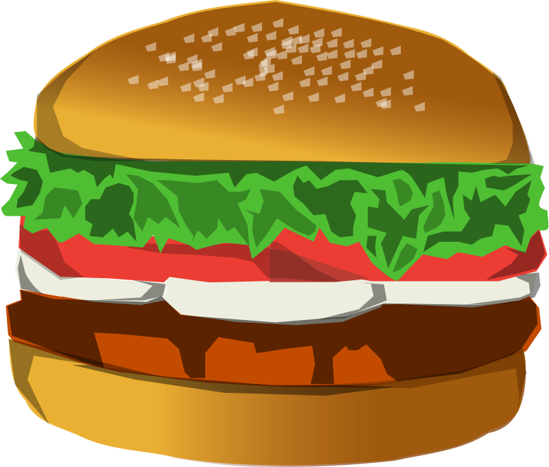Burger clipart plate food Images clipart of Healthy Hamburger