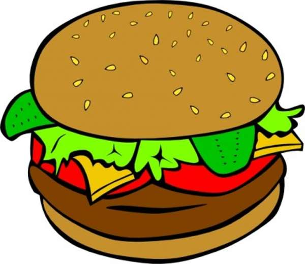 Burger clipart school food Clipart plate pictures for free