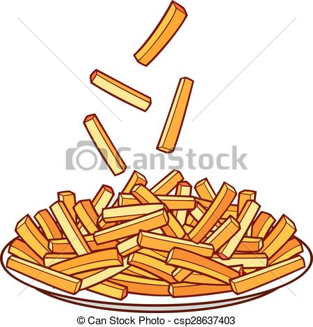 French Fries clipart plate On french Vector fries fries