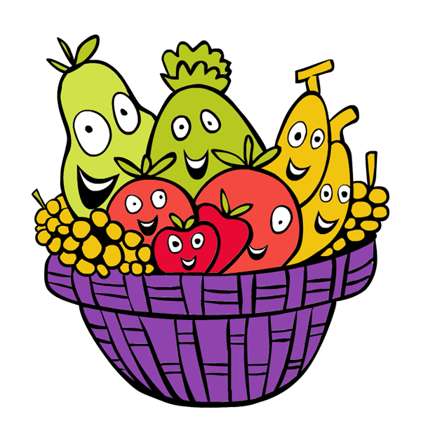 Plate clipart fruit basket #4