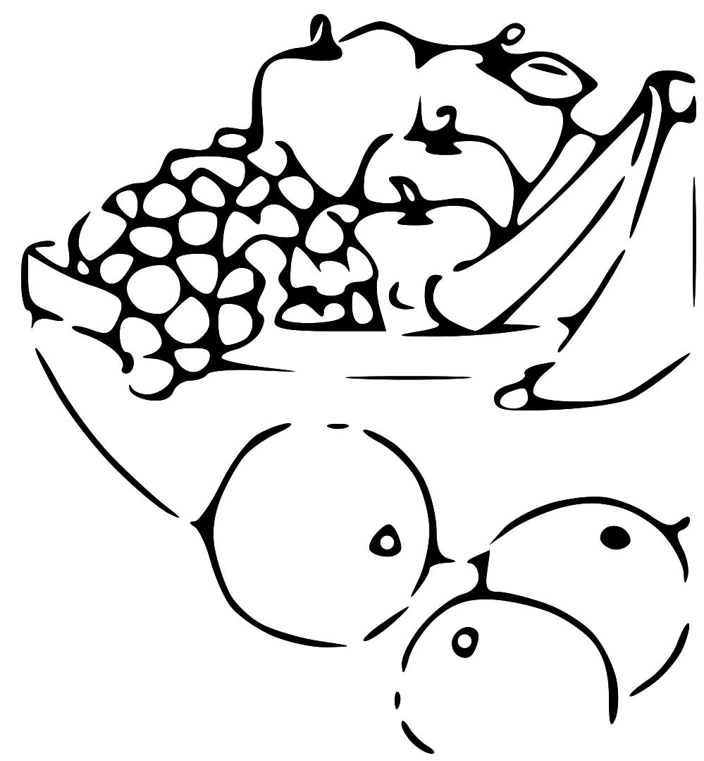 Plate clipart fruit basket #8