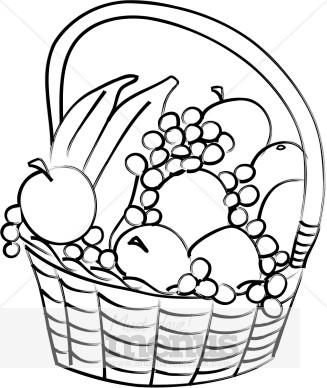 Plate clipart fruit basket #7