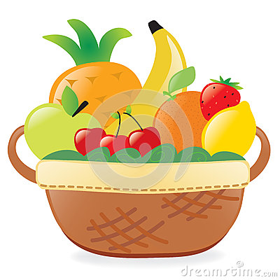 Plate clipart fruit basket #10