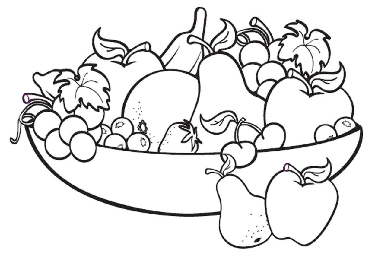 Plate clipart fruit basket #12