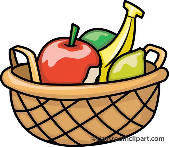 Plate clipart fruit basket #3