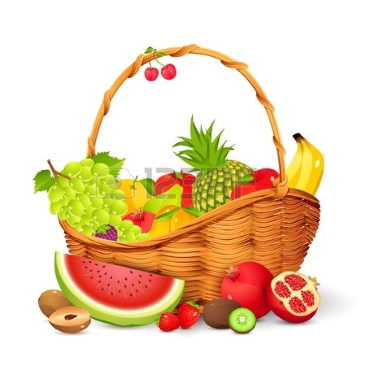 Plate clipart fruit basket #5