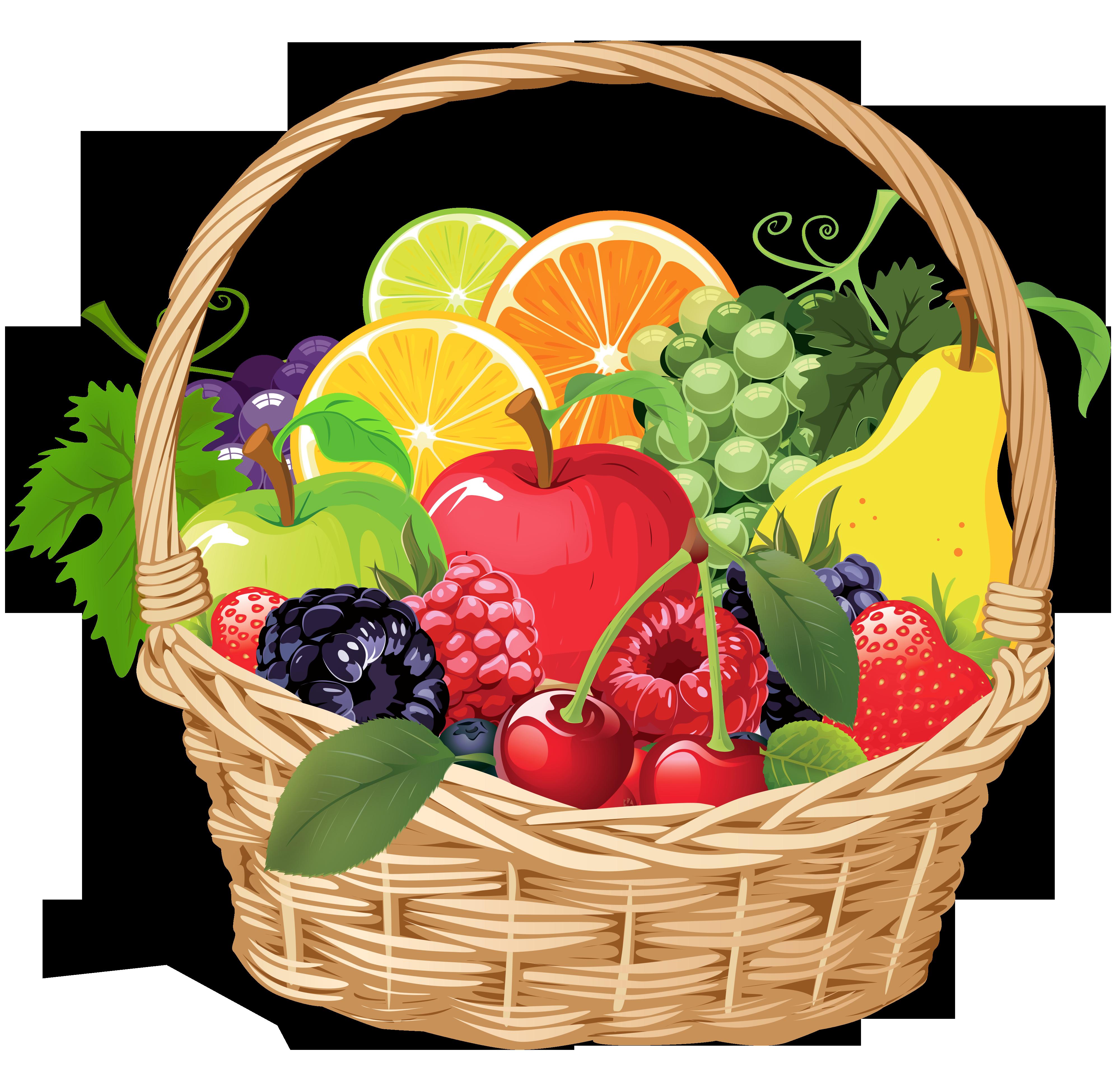 Plate clipart fruit basket #14