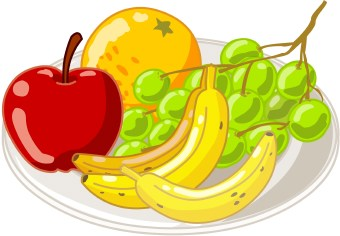 Banana clipart snacktime Plate Clipart Panda Fruit Images