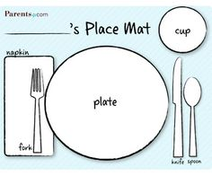 Plate clipart kid set table #15