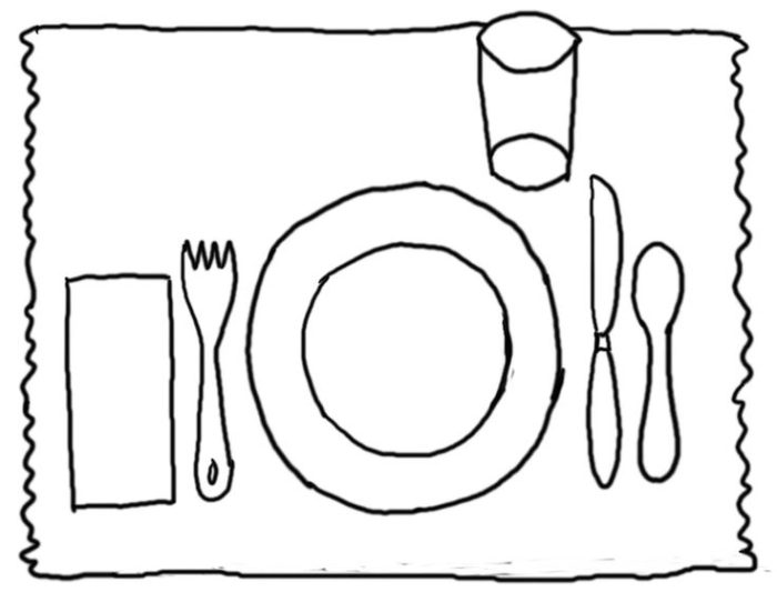Plate clipart kid set table #5