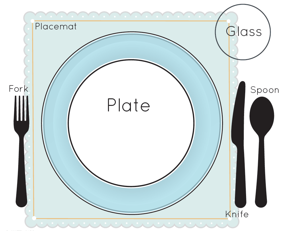 Plate clipart kid set table #11