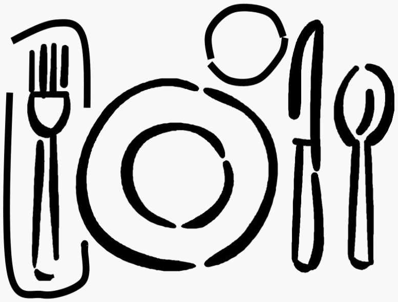 Setting clipart dinner And setting plate clipart art