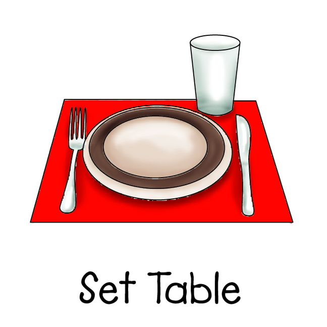 Plate clipart kid set table #12