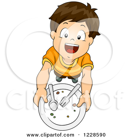 Plate clipart kid set table #1