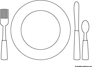 Plate clipart kid set table #2