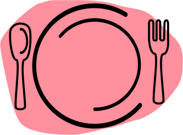 Plate clipart large #5