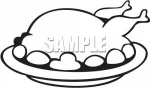 Turkey clipart plate #4