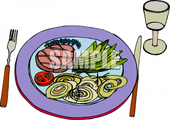 Steak clipart plate food Of and Food: Illustration Veges