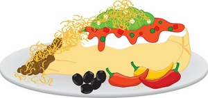 Plate clipart mexican food Food Plate Clipart Food Plate