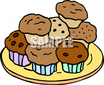 Plate clipart muffin Muffins of Picture Clip Muffins