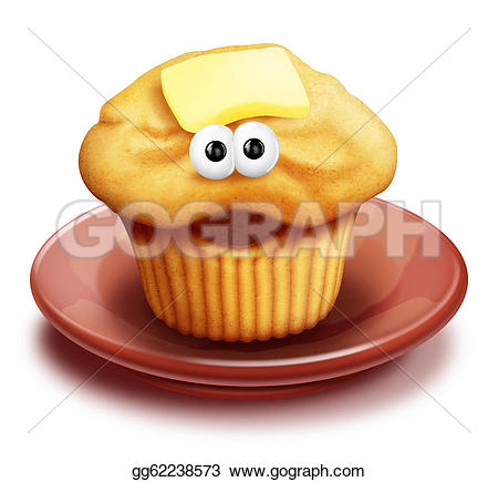 Plate clipart muffin Clipart plate cartoon Drawing Drawing