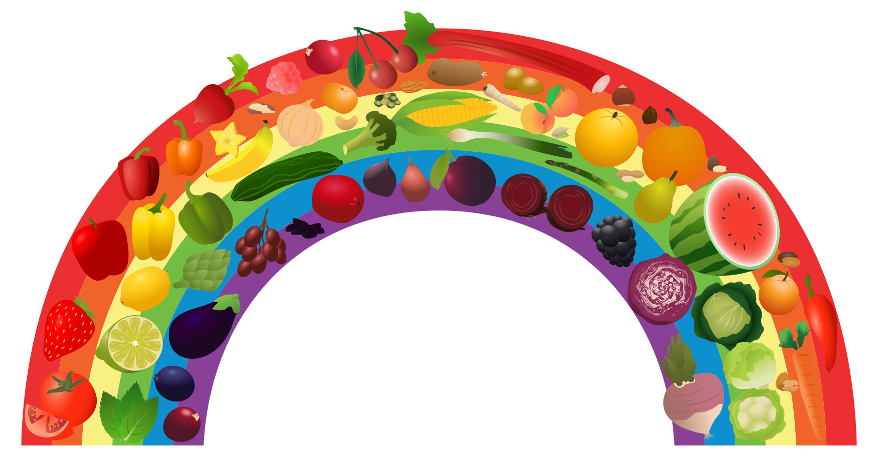 Vegetables clipart rainbow Art Nutrition collection png View