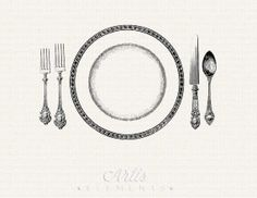 Setting clipart dinner ClipArt Plate Spoon Fork Download