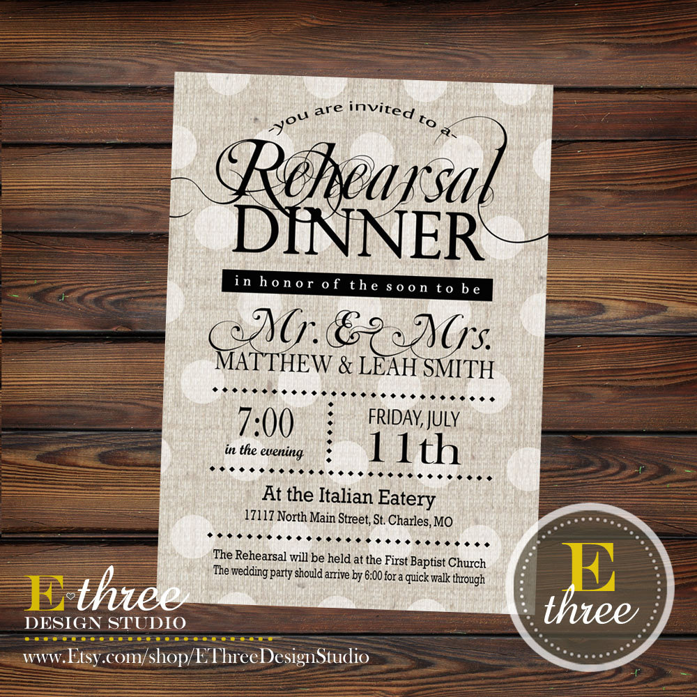 Cutlery clipart rehearsal dinner  Black Linen and Invitations