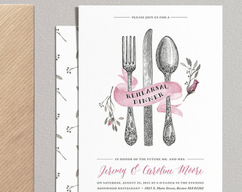 Cutlery clipart rehearsal dinner Rehearsal Set Wedding Printable Cutlery