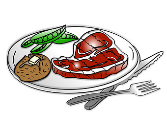 Beef clipart meat food Plate Clipart food Fast Fast