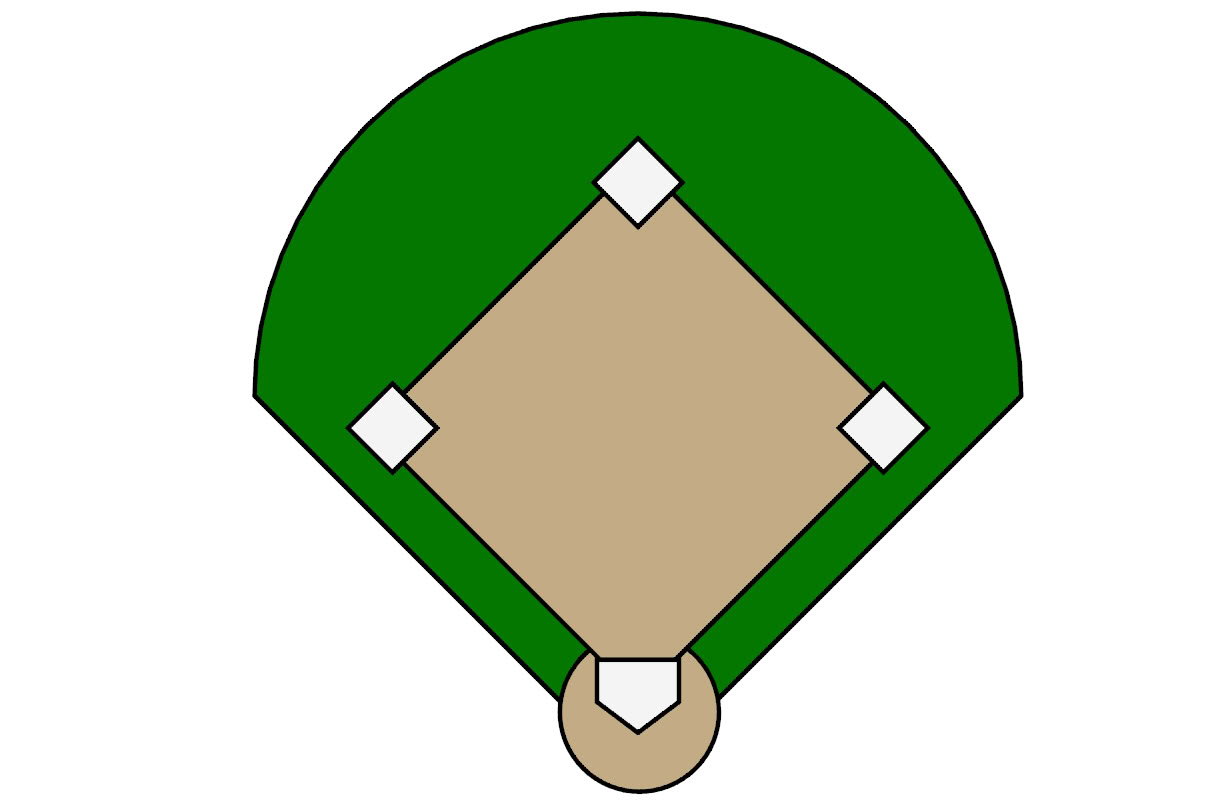 Feilds clipart cartoon Clipart clipart WikiClipArt softball Baseball