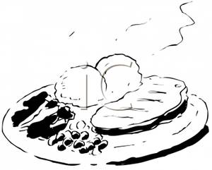 Plate clipart steak Black A Art Potatoes Clip