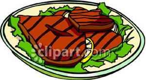 Plate clipart steak Plate Steaks Grilled On Plate