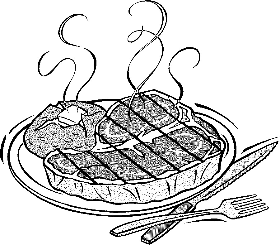 Beef clipart black and white And bone black tips steak