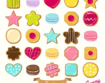 Biscuit clipart sugar cookie Design clipart Digital Biscuits /