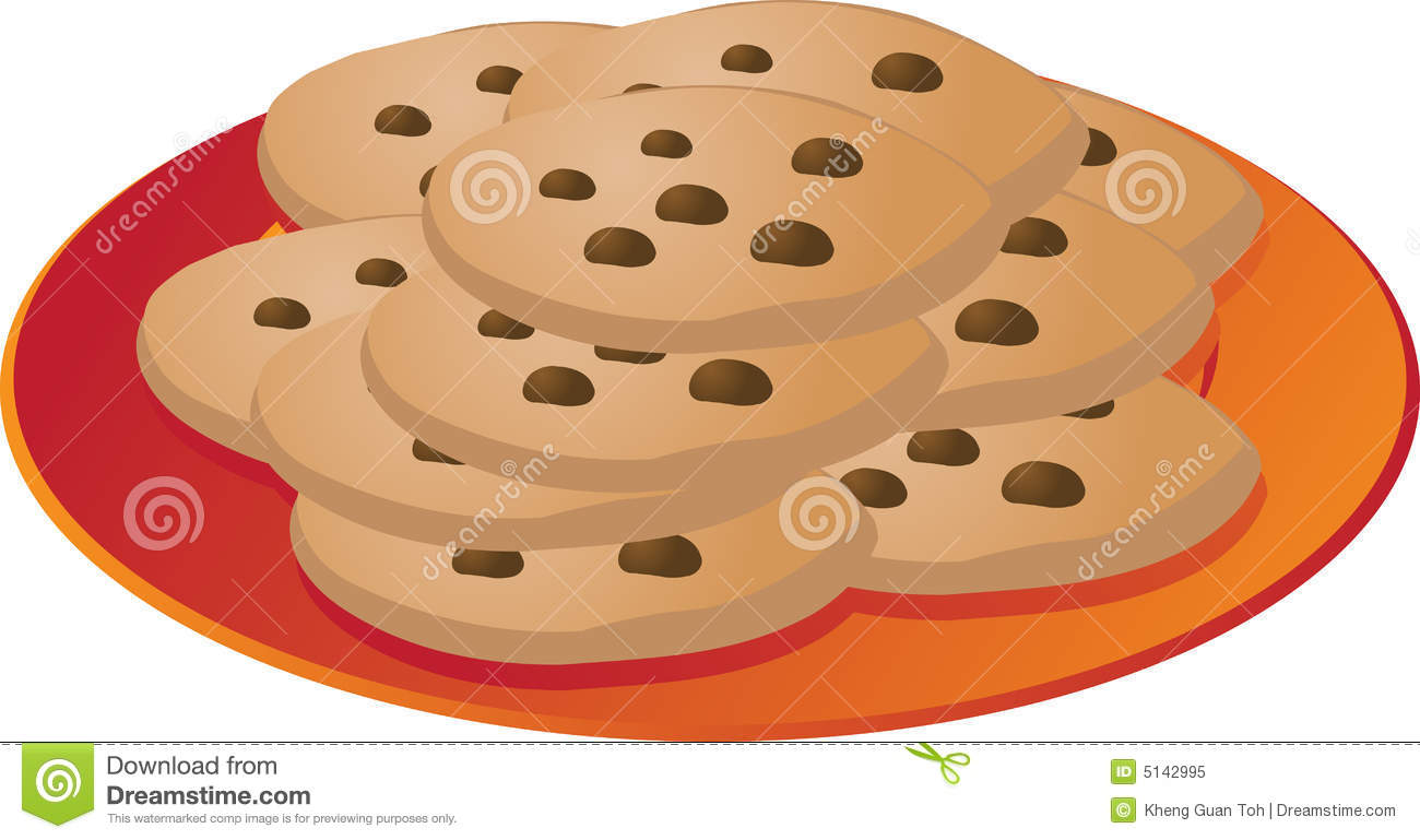 Biscuit clipart plate cookie Of And Cookie art Clipart