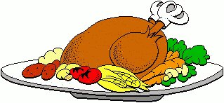 Turkey clipart plate #3