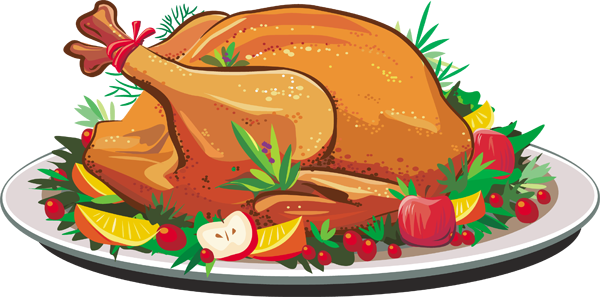 Thanksgiving clipart thanksgiving dinner Plates Free Art Clip dinner