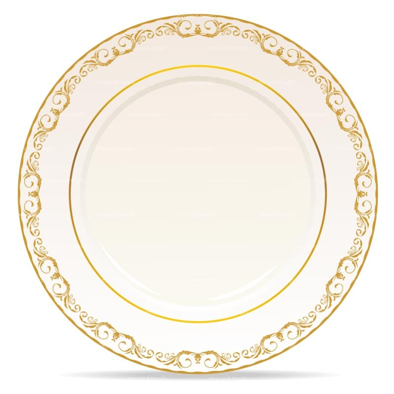 Plate clipart vector #3