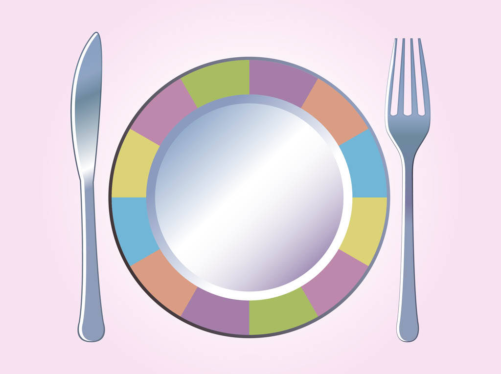 Plate clipart vector #4