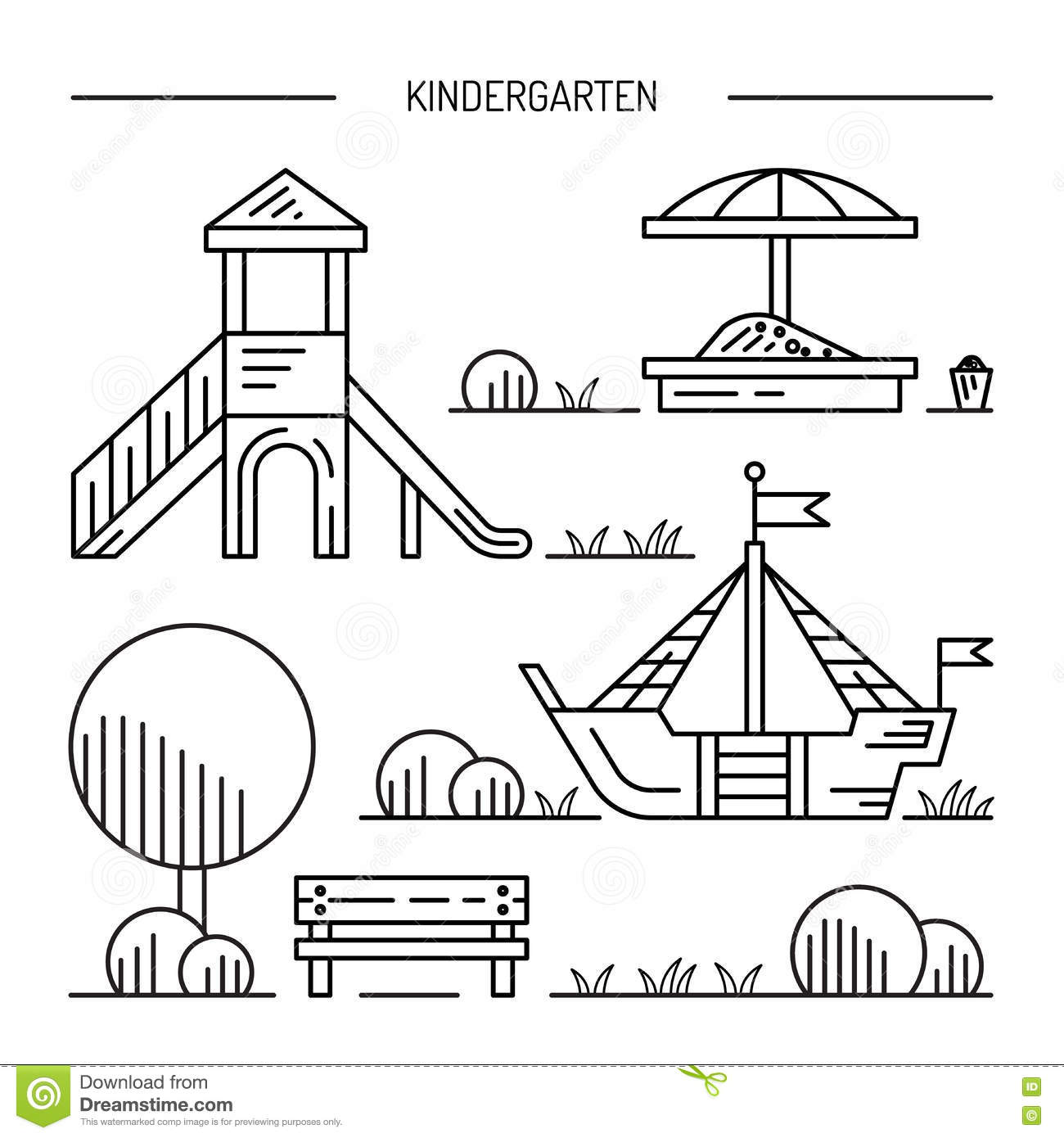 Playground clipart outline #12