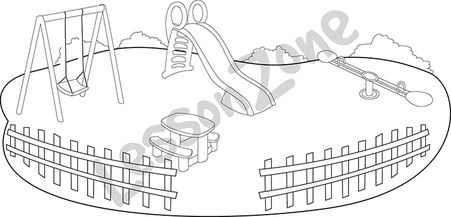 Playground clipart outline #2