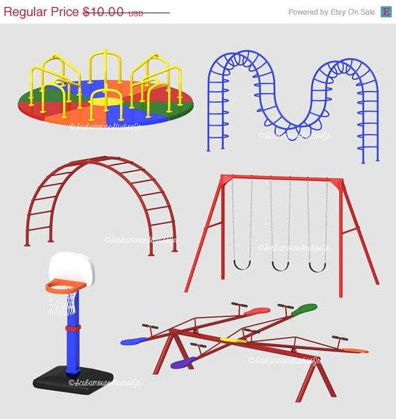 Playground clipart playground game Clip 75% art  by