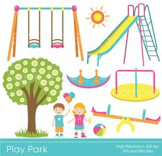 Playground clipart spring Swings Clipart Clipart by Art